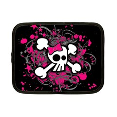 Girly Skull And Crossbones Netbook Sleeve (small)