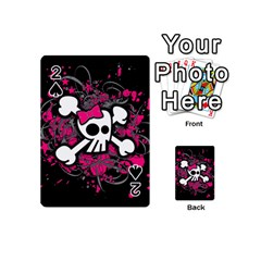 Girly Skull And Crossbones Playing Cards 54 Designs (mini)