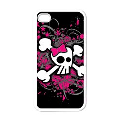 Girly Skull And Crossbones Apple Iphone 4 Case (white)
