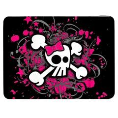 Girly Skull And Crossbones Samsung Galaxy Tab 7  P1000 Flip Case