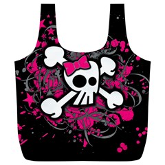 Girly Skull And Crossbones Reusable Bag (xl)