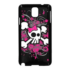 Girly Skull And Crossbones Samsung Galaxy Note 3 Neo Hardshell Case (Black)