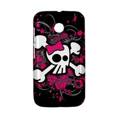 Girly Skull And Crossbones Motorola Moto E Hardshell Case