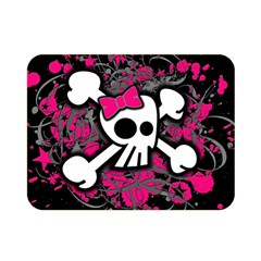 Girly Skull And Crossbones Double Sided Flano Blanket (Mini)