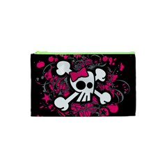 Girly Skull And Crossbones Cosmetic Bag (XS)