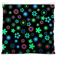 Floral Large Flano Cushion Case (two Sides)