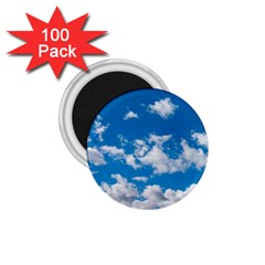 Bright Blue Sky 1 75  Button Magnet (100 Pack)