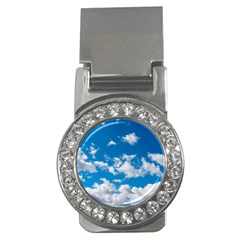 Bright Blue Sky Money Clip (cz)