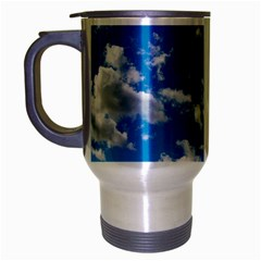 Bright Blue Sky Travel Mug (silver Gray)