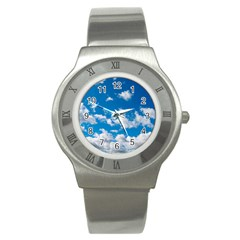 Bright Blue Sky Stainless Steel Watch (slim)