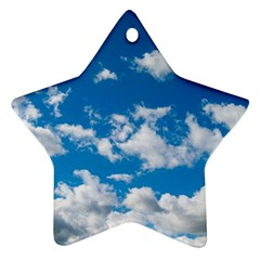 Bright Blue Sky Star Ornament (two Sides)