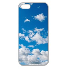 Bright Blue Sky Apple Seamless Iphone 5 Case (clear)
