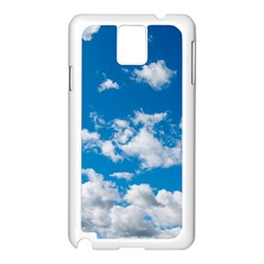 Bright Blue Sky Samsung Galaxy Note 3 N9005 Case (white)