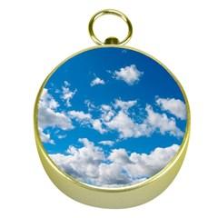 Bright Blue Sky Gold Compass