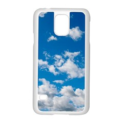 Bright Blue Sky Samsung Galaxy S5 Case (white)