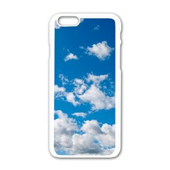 Bright Blue Sky Apple iPhone 6 White Enamel Case