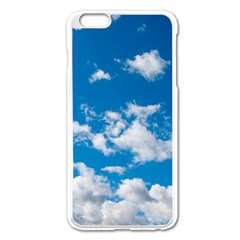 Bright Blue Sky Apple iPhone 6 Plus Enamel White Case