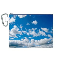 Bright Blue Sky Canvas Cosmetic Bag (XL)