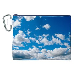 Bright Blue Sky Canvas Cosmetic Bag (XXL)
