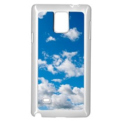 Bright Blue Sky Samsung Galaxy Note 4 Case (White)