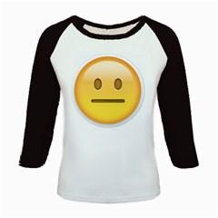 Neutral Face  Kids Long Cap Sleeve T-Shirt