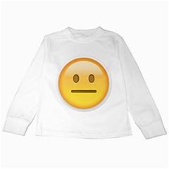 Neutral Face  Kids Long Sleeve T-Shirt