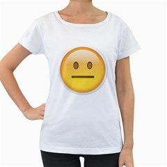 Neutral Face  Women s Loose Fit T Shirt (white)