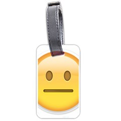 Neutral Face  Luggage Tag (one Side)