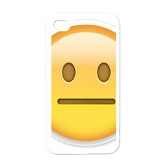 Neutral Face  Apple Iphone 4 Case (white)