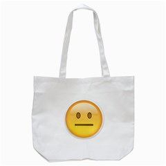 Neutral Face  Tote Bag (white)