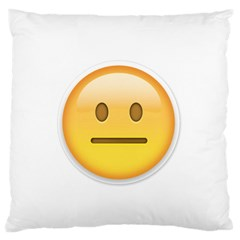 Neutral Face  Large Flano Cushion Case (One Side)