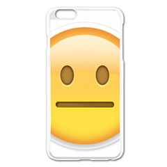 Neutral Face  Apple iPhone 6 Plus Enamel White Case