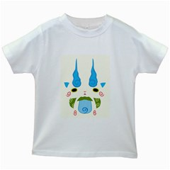 Komasan Reverse Print Kids T-shirt (White)
