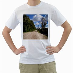 Dusty Road Men s Two-sided T-shirt (White)