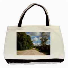 Dusty Road Twin Sided Black Tote Bag