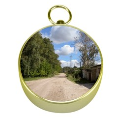 Dusty Road Gold Compass