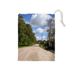 Dusty Road Drawstring Pouch (Medium)