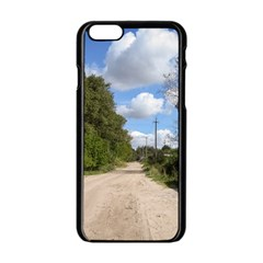 Dusty Road Apple iPhone 6 Black Enamel Case