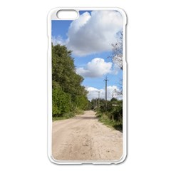 Dusty Road Apple iPhone 6 Plus Enamel White Case