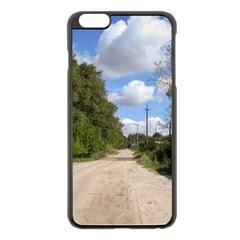 Dusty Road Apple iPhone 6 Plus Black Enamel Case