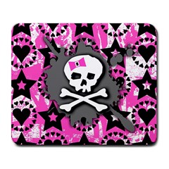 Pink Bow Skull Large Mouse Pad (rectangle)