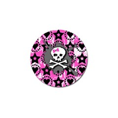 Pink Bow Skull Golf Ball Marker 10 Pack
