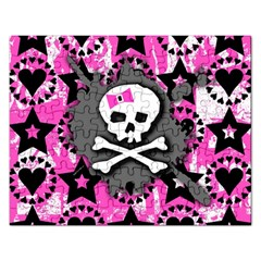 Pink Bow Skull Jigsaw Puzzle (rectangle)