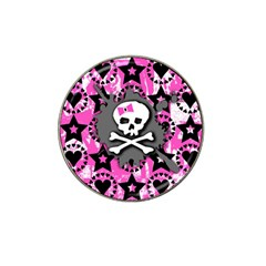 Pink Bow Skull Golf Ball Marker (for Hat Clip)
