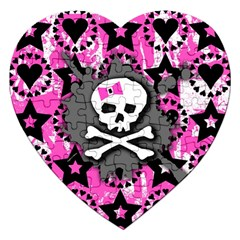 Pink Bow Skull Jigsaw Puzzle (heart)