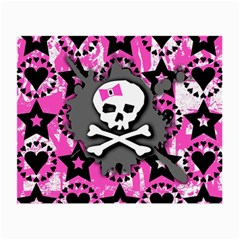 Pink Bow Skull Glasses Cloth (small)