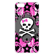 Pink Bow Skull Apple Iphone 5 Seamless Case (white)