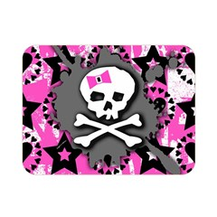 Pink Bow Skull Double Sided Flano Blanket (Mini)