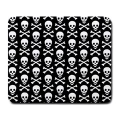 Skull And Crossbones Pattern Large Mouse Pad (rectangle)