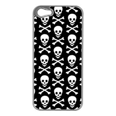 Skull And Crossbones Pattern Apple Iphone 5 Case (silver)